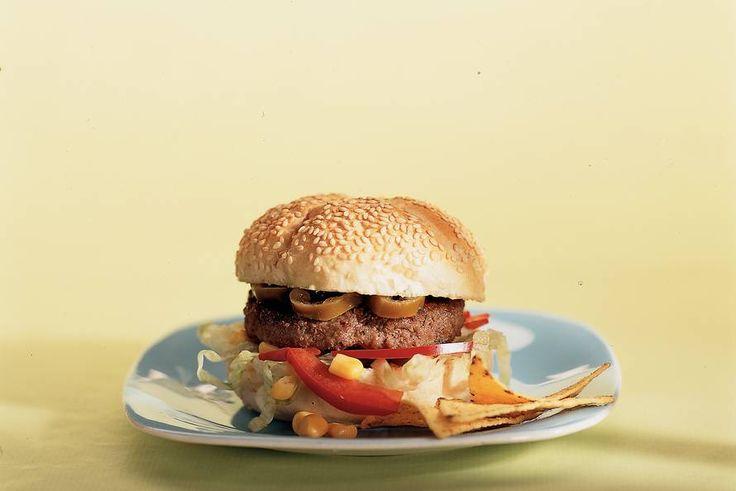 Kijk wat een lekker recept ik heb gevonden op Allerhande! Mexicaanse hamburger