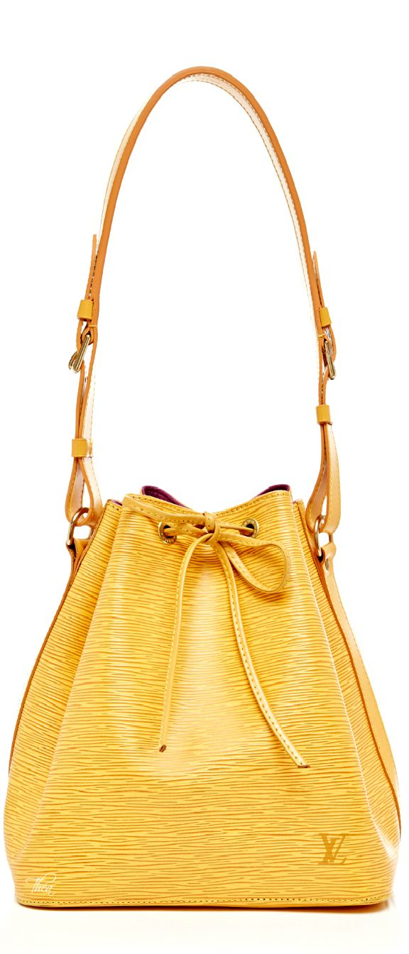 Louis Vuitton ~ Summer Canary Yellow Leather Bucket Bag 2015