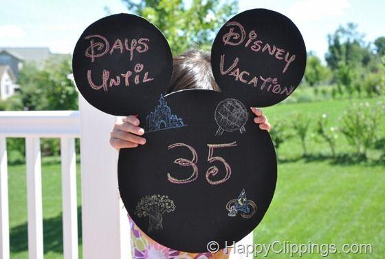 Super cute Disney countdown: Chalkboards, Mickey Mouse, Disney Crafts, Disney World, Disney Trips, Disney Vacations, Chalk Boards, Vacations Countdown, Disney Countdown