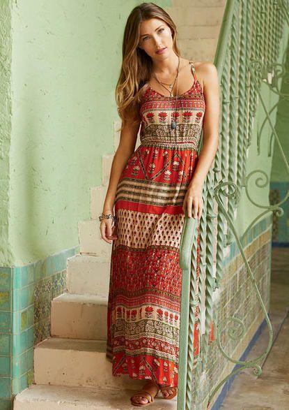Sierra Tribal Maxi Dress #myalloy #alloyapparel