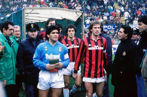 Maradona - Baresi  qualche era geologica fa... #football