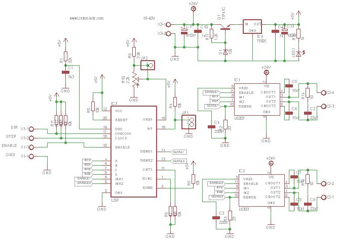 Bipolar stepper controller using the couple l