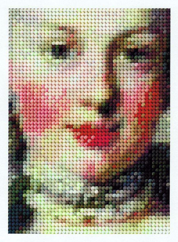 miniature needlework chart, Marie Antoinette