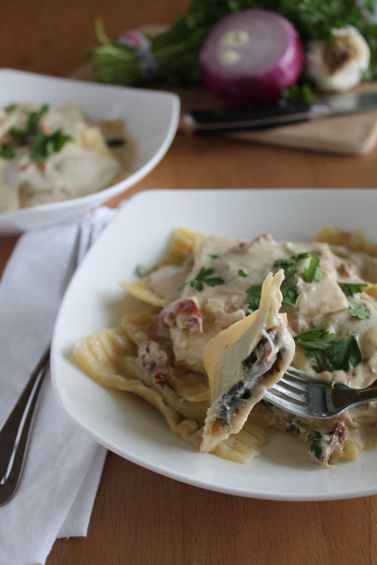 Mushroom ravioli, Tomato cream sauces and Ravioli on Pinterest