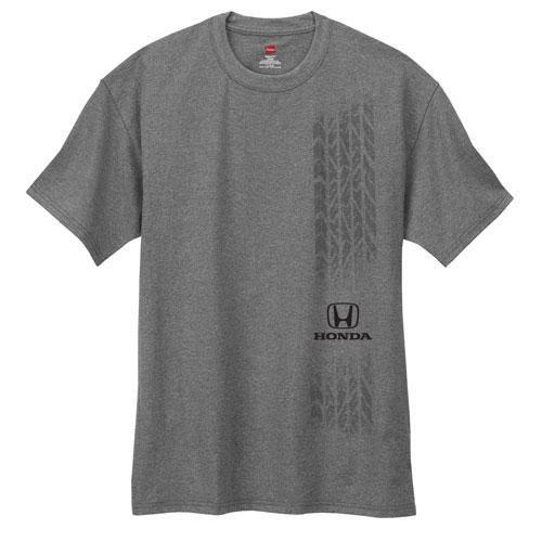 Men's Tread t-shirt. 10.1 oz., 100% cotton. Honda logo and custom tire tread design screened on front.