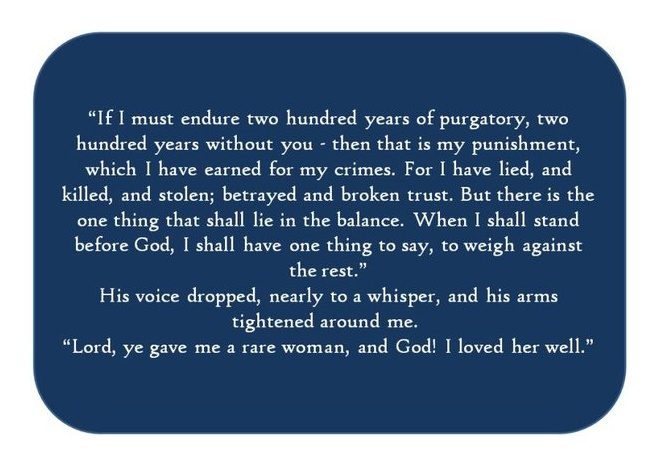 "Diana Gabaldon's ""Outlander"" series. Seriously. How can you not melt at words like that?? Sigh...<3"