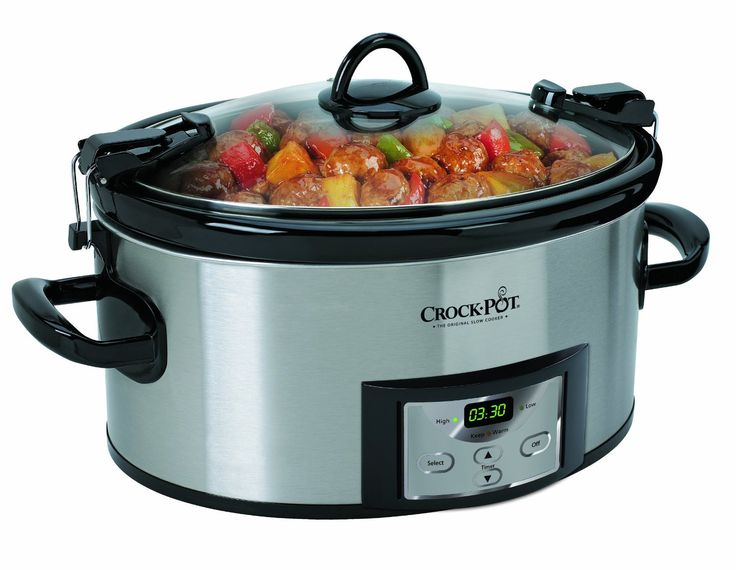 Crock-Pot SCCPVL610-S 6-Quart Programmable Cook Carry Oval Slow Cooker -- New