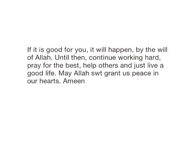May Allah grant us peace in our hearts.