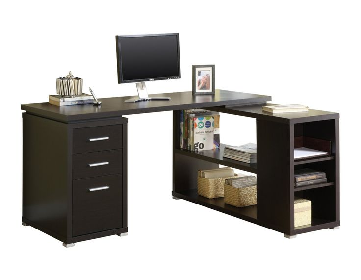 Amazon.com   Monarch Specialties Cappuccino Hollow Core L Shaped Computer  Desk   Home