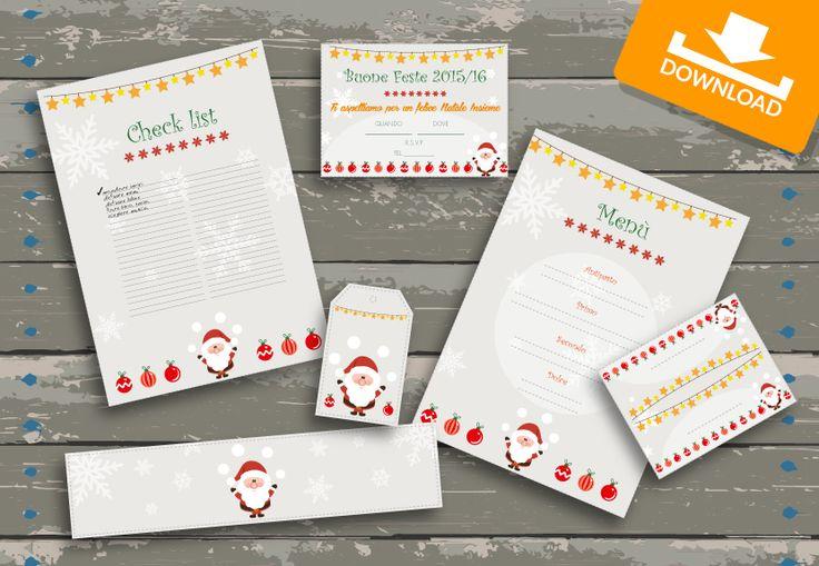 #Kit #scaricabili #gratis: Santa Claus - occasione #Natale! Invita i tuoi amici su #Facebook e scarica i materiali per la tua #festa!