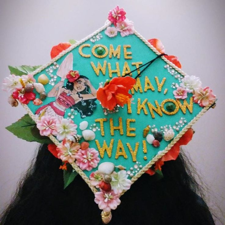 Disney's Moana Inspired Graduation Cap Decoration Idea | MyVCUcap | Virginia Commonwealth University | Class of 2017