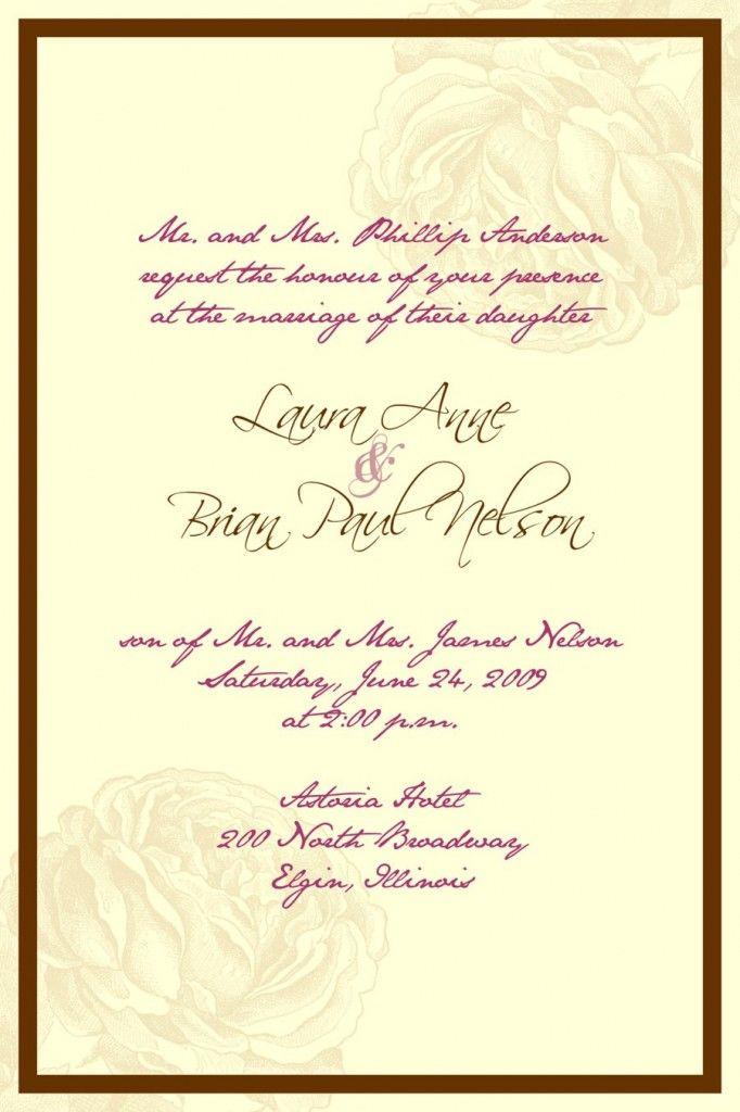 43 best Wedding Invitation images on Pinterest   Invitation ideas ...