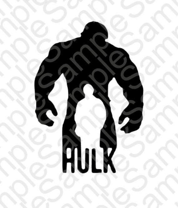 Hulk Silhouette Shirt Svg And Dxf Cut Files By