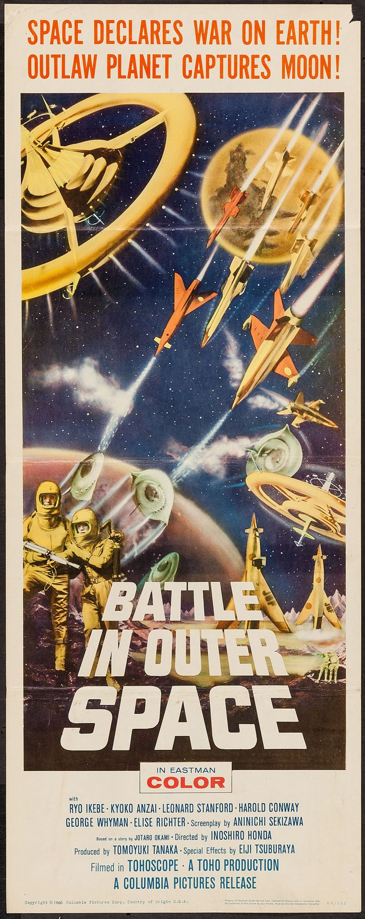 """Battle in Outer Space (Columbia, 1960). Insert (14"""" X 36"""")"""