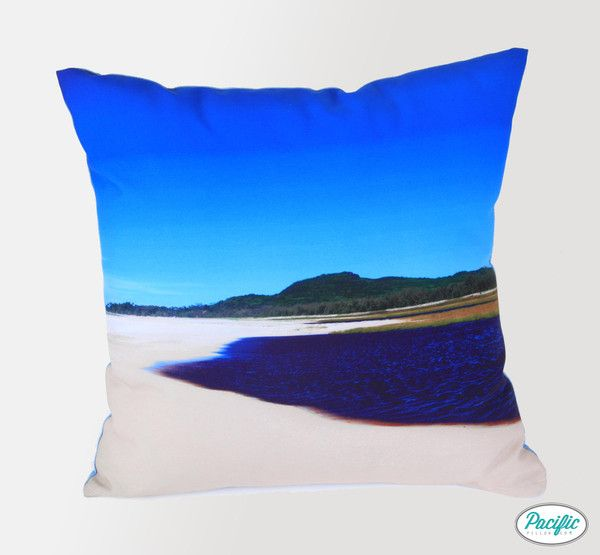 This cushion features the Tea Tree Lake at the Northern end of Moreton Island printed on high quality non fade material.