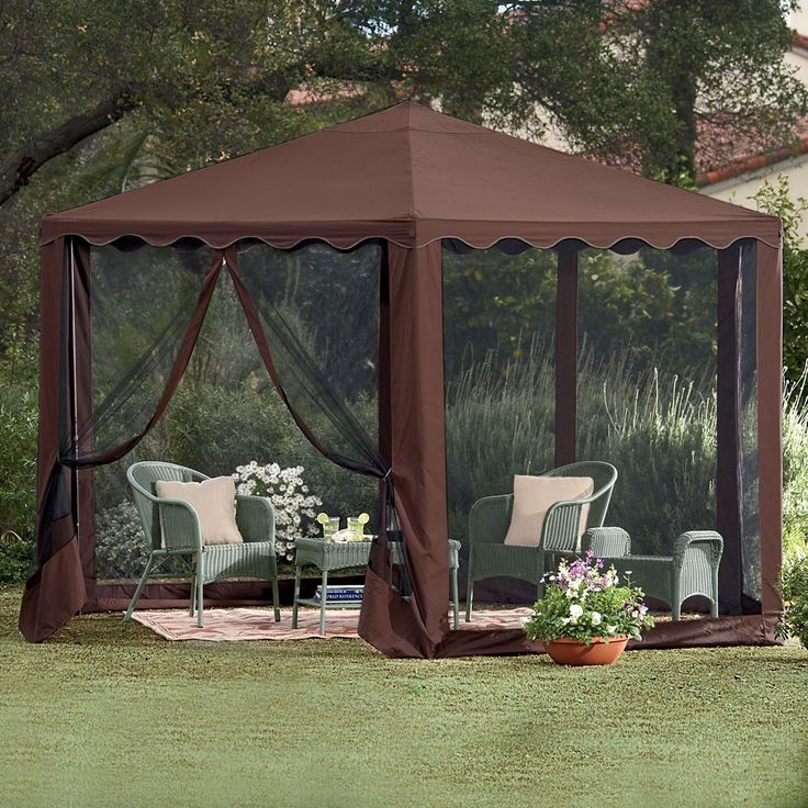 New Steel Framed Waterproof Hexagon Screened Gazebo Tent Outdoor Patio Room : garden tents and gazebos - memphite.com