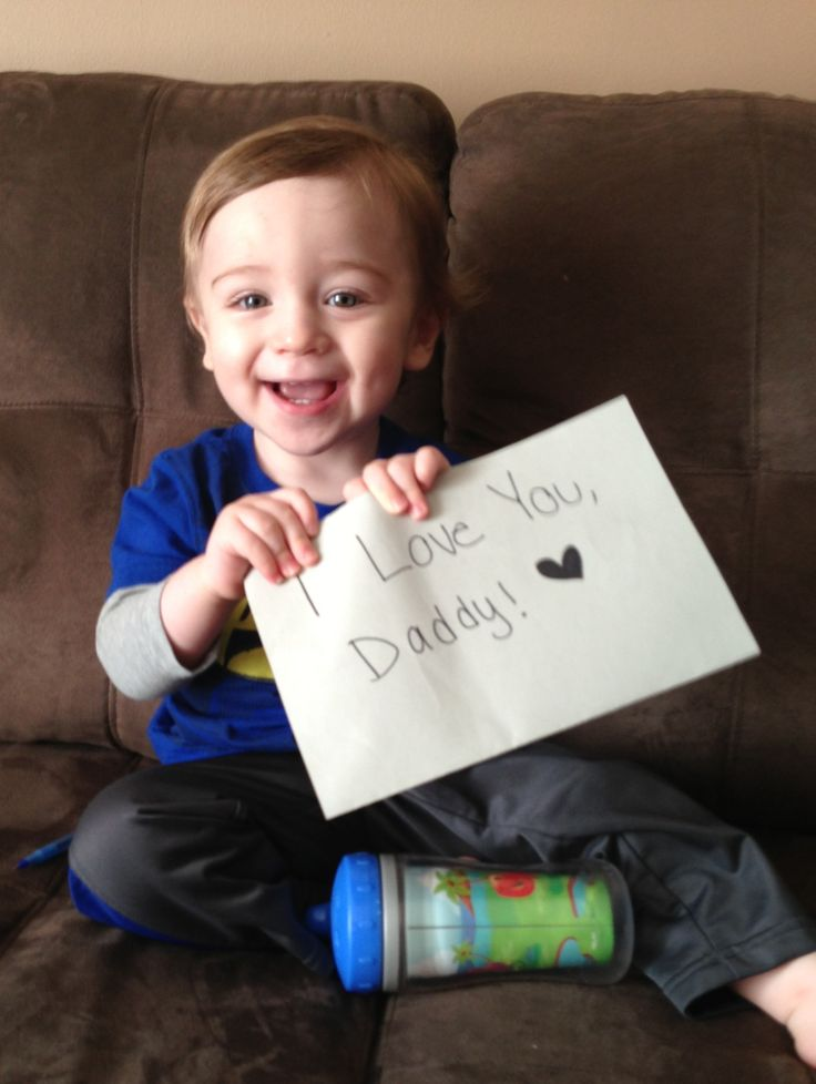 My adorable son with a sign for daddy! deployment