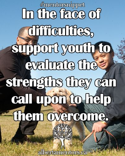 In the face of difficulties, support youth to evaluate the strengths they can call upon to help them overcome. Related
