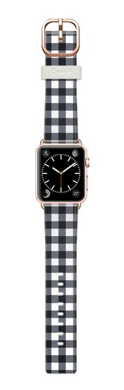 Casetify Apple Watch Band (38mm) Casetify Band - Little Gingham Decor by Emanuela Carratoni #Casetify