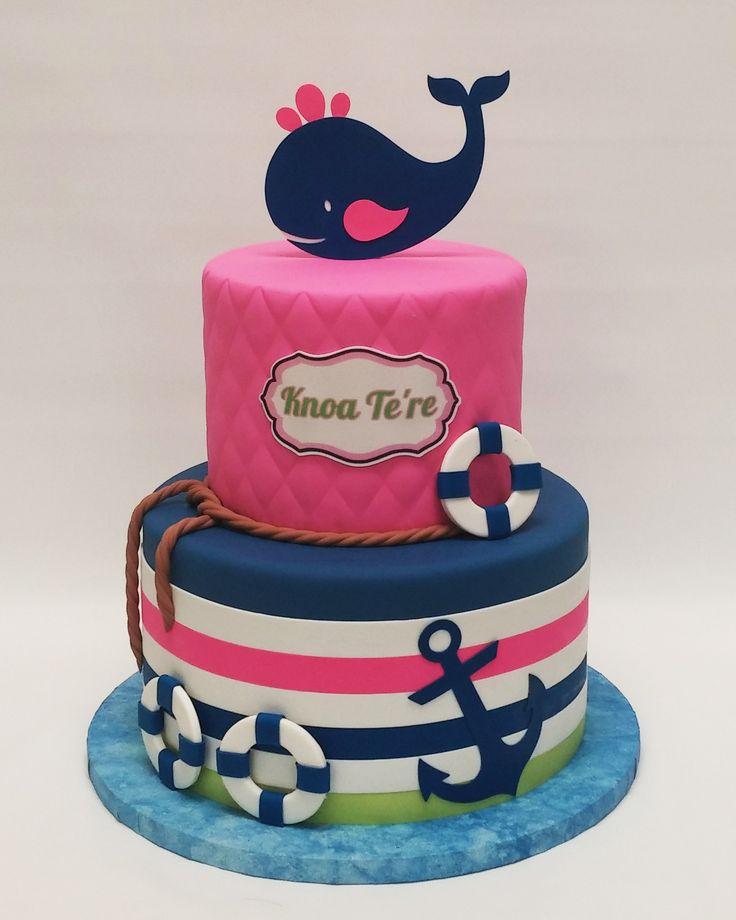 bs38.jpg (1570×1963)   Nautical baby shower girl. Baby shower cakes