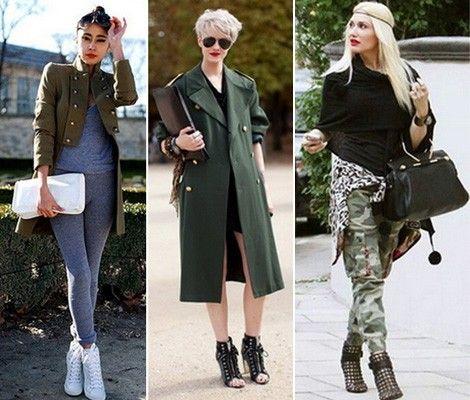 Одежда и аксессуары в стиле милитари, фото