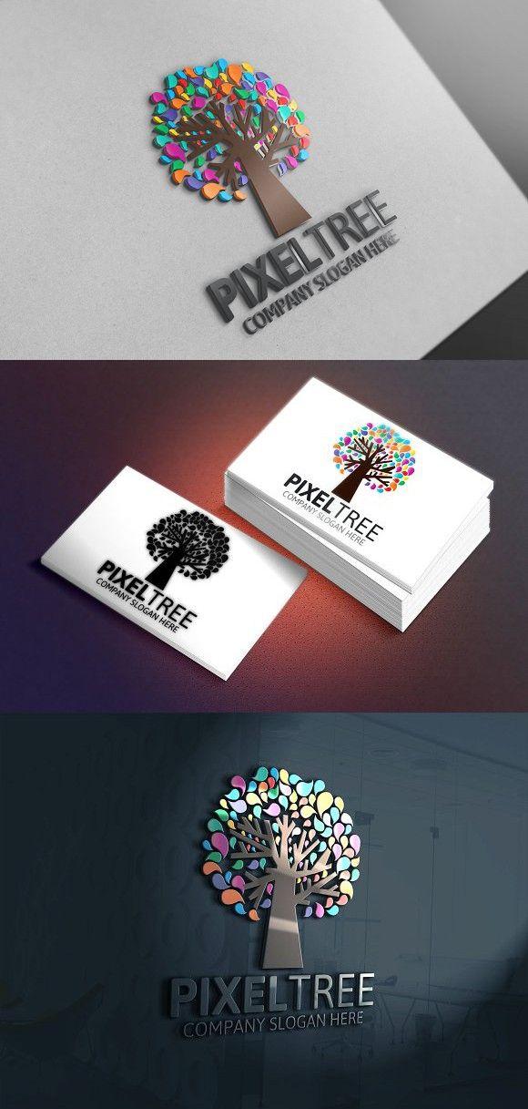 Pixel Tree Logo Discount 25