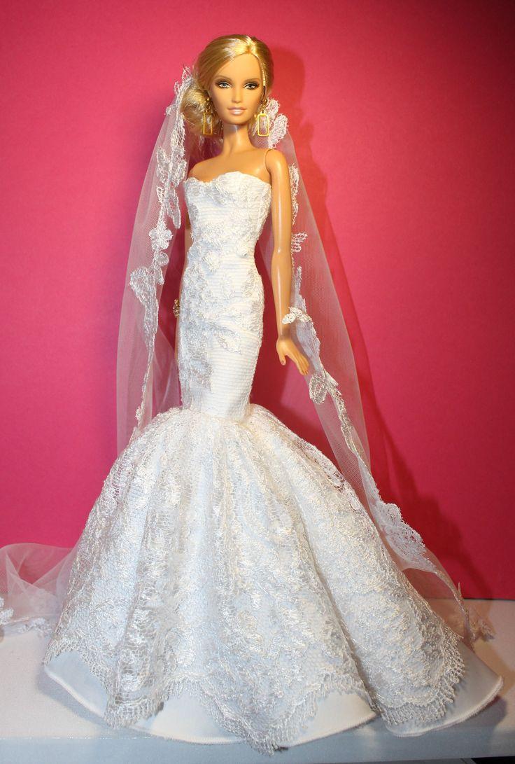 2105 best wedding dresses for dolls images on pinterest for How to make a barbie wedding dress
