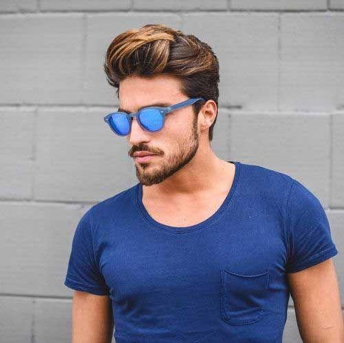 Mens Medium Highlighted Hair