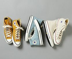 Mustard, sky blue, and white converse. I need them all!