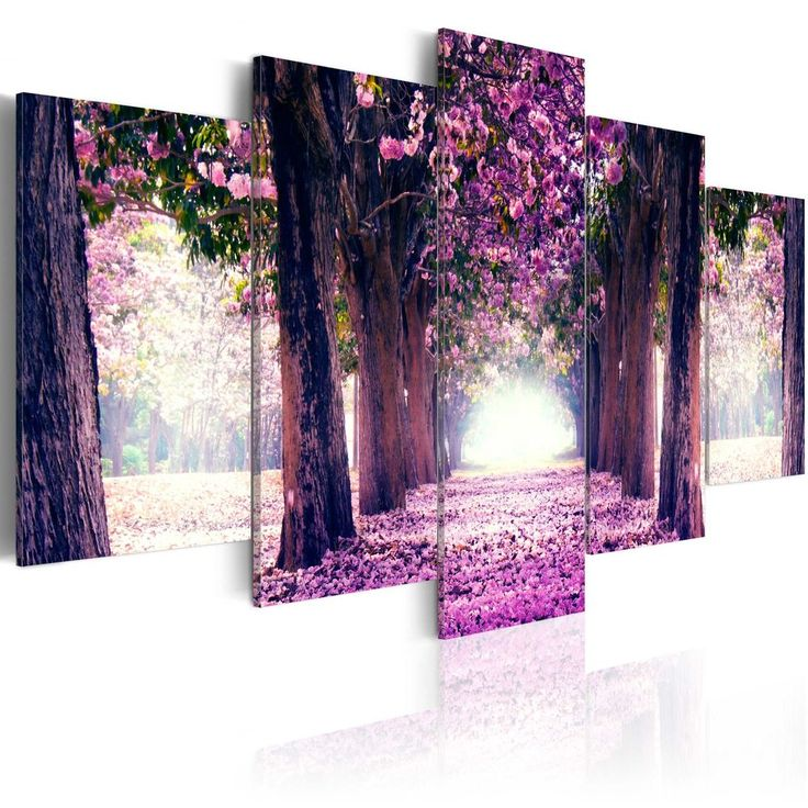 LARGE CANVAS WALL ART PRINT + IMAGE + PICTURE + PHOTO FLOWERS TREES c-A-0039-b-o
