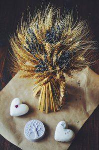 Пшеничный букет с добавлением голандской лаванды, стоимость 1400 р. (в наличии 1 букет)
