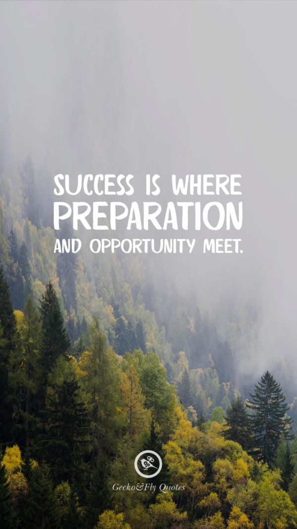 Success Is Where Preparation And Opportunity