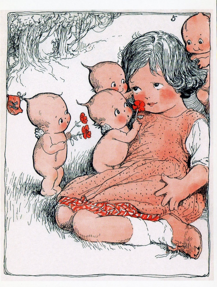 From The Kewpies and Their Book, 1911. Rose O'Neil, Artist.