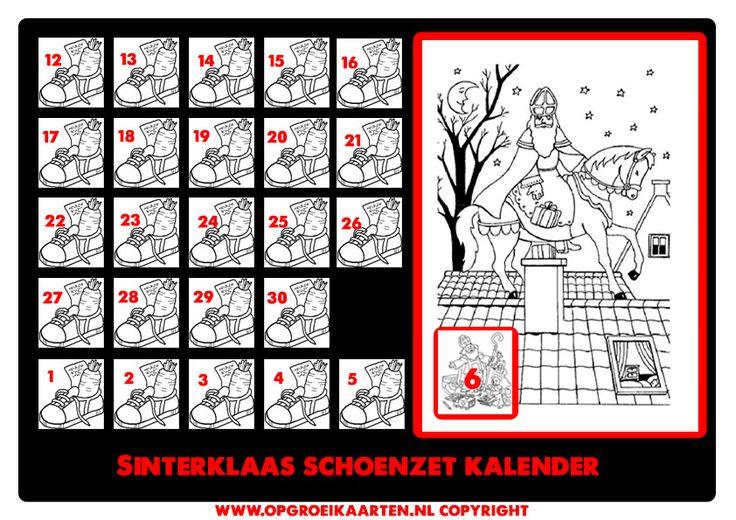 schoenzet kalender 6 dec - gratisbeloningskaart.nl