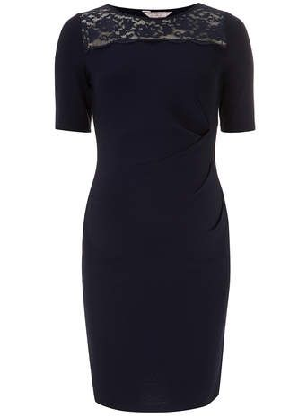 Maternity Navy lace bodycon dress