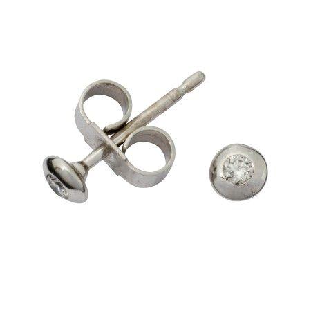 London Road White Gold Diamond Stud Earrings | Earrings | Rings & Diamonds
