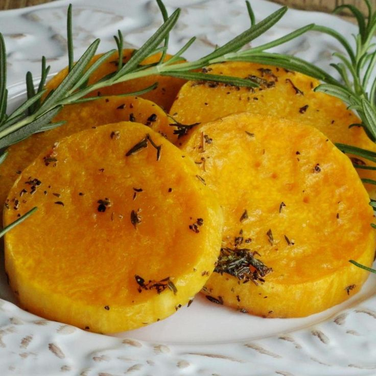 Rosemary Chili-Lime Butternut Squash Rounds Recipe | Just A Pinch Recipes