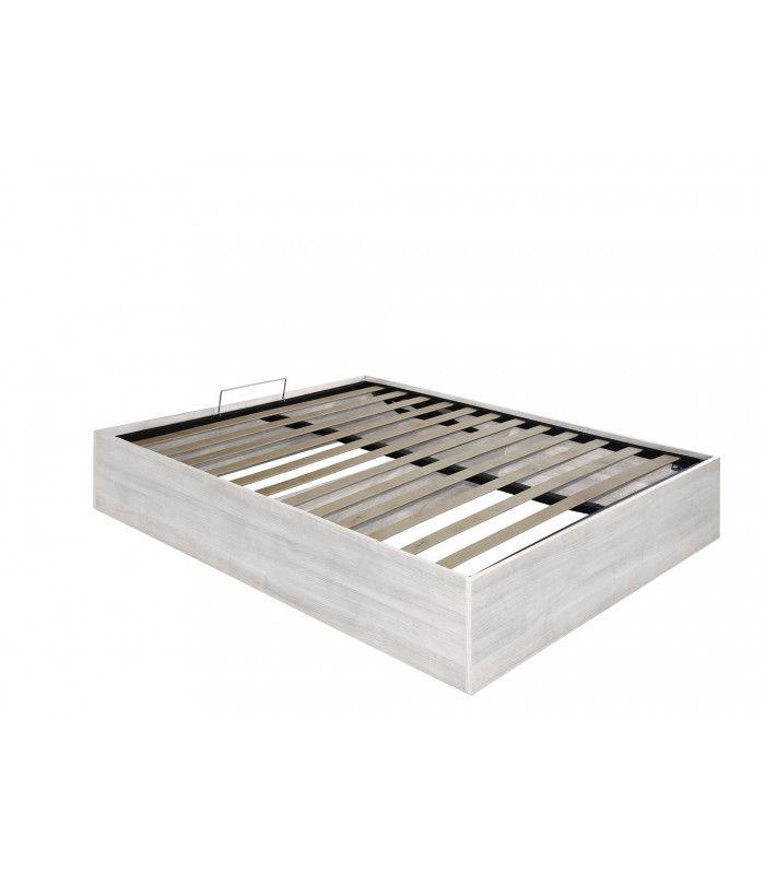 Letto contenitore con rete a doghe sollevabile. Comodissimo letto salvaspazio per riporre biancheria, coperte, oggetti vari.