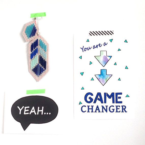 You are a Game Changer Boys Art Typography by FizzyLimeCreative