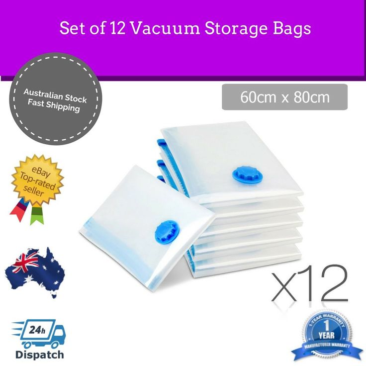 Vacuum Bags 12x Storage Home Clothes Packing Space Saving Travel Luggage Bedding