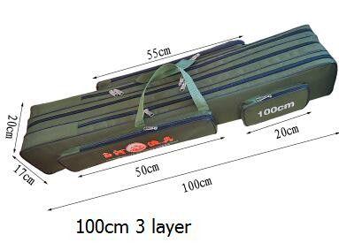 Large Capacity 1.35M 3 Layer Fishing Rod Bags 80cm 90cm 1m 1.2m 1.25m Fishing Bags Fishing Tackle Bag Outdoor Pole Gear Bags