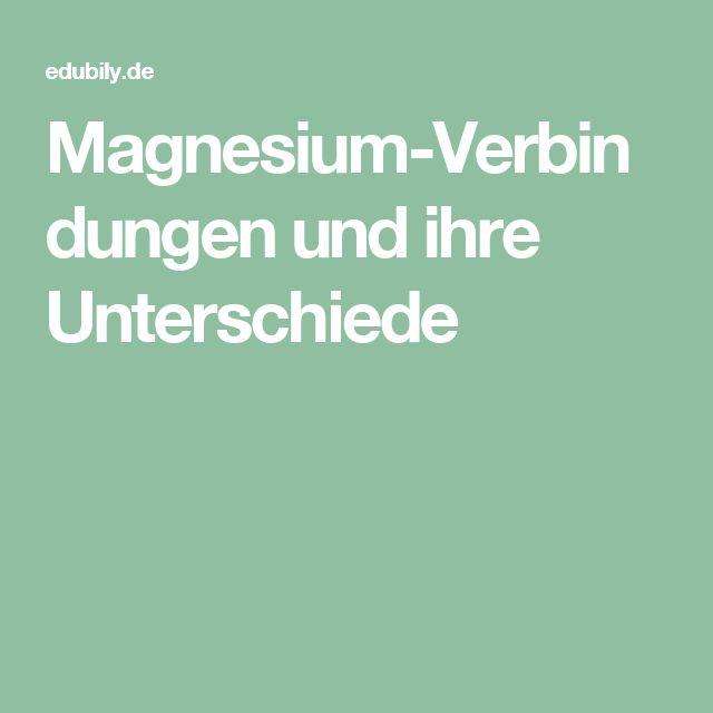 Magnesium-Verbindungen und ihre Unterschiede