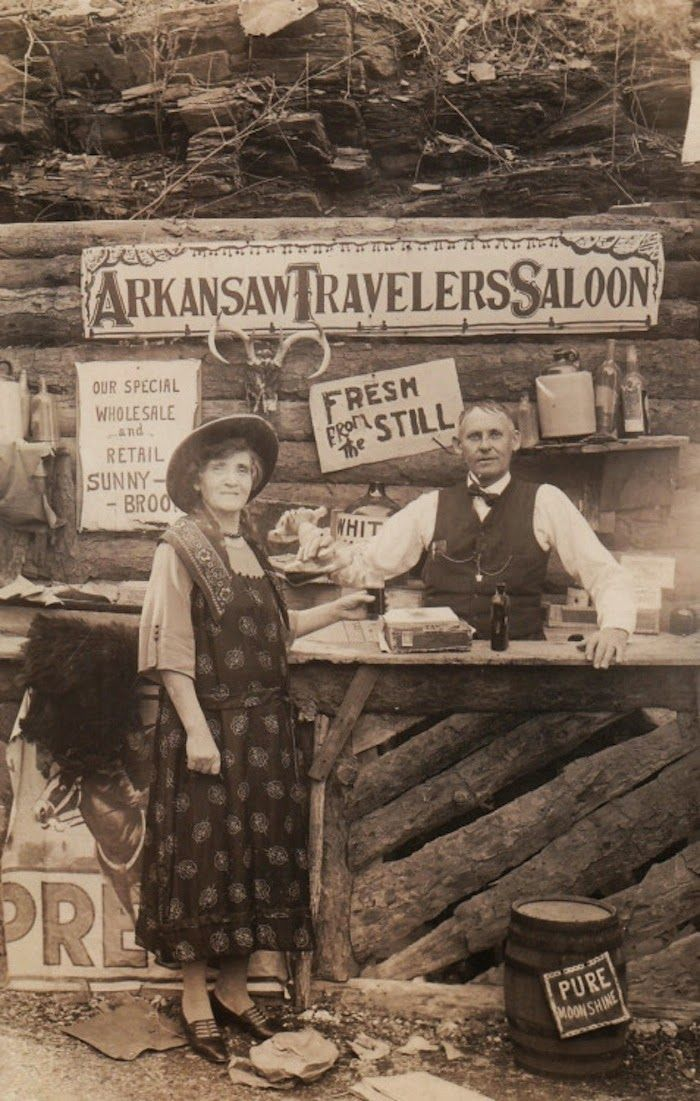 vintage everyday: 'Arkansaw Traveler's Saloon' — This is One of the Best Old-time Photography Studios Ever