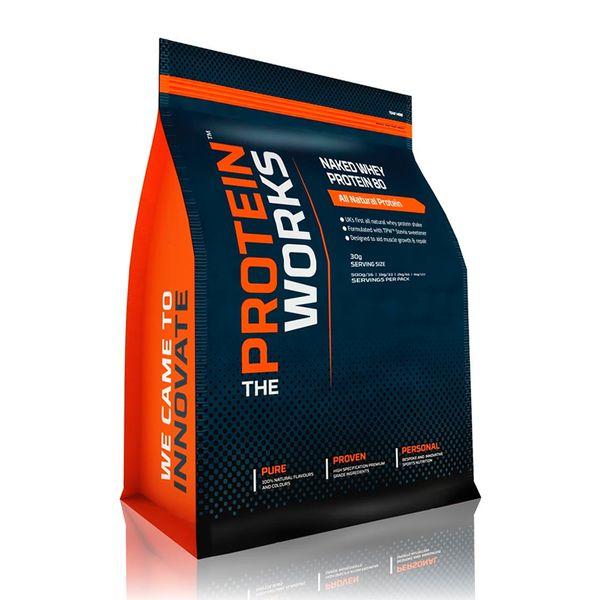 Naked Whey Protein 80 - The Protein Works - Benefícios Chave - 78% teor proteico - Proteína de soro de leite totalmente natural. - Projetado para auxiliar o crescimento e reparação muscular. - Formulado com adoçante de Stevia TPW™.