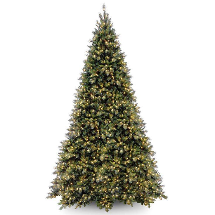 12-ft. Pre-Lit Tiffany Fir Artificial Christmas Tree, Green