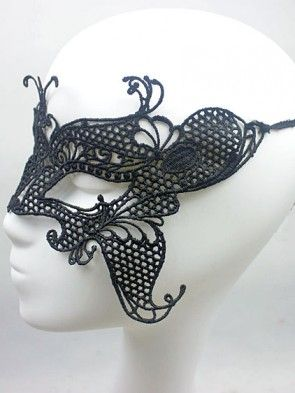 Black Butterfly Lace Masquerade Mask
