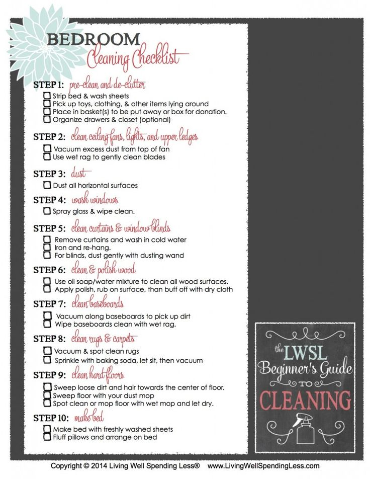 to clean your bedroom room cleaning checklist cleaning room cleaning