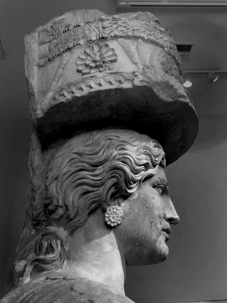 The Caryatid of Eleusina.Museum Lizzie Calligas-photograph