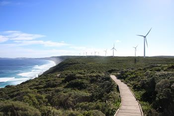 Albany Wind Farm Turbines along the Bibbulmun Track, less than twenty minutes from Albany City Centre.