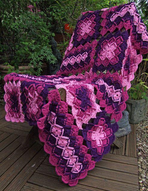 Bavarian Crochet Lap Blanket by Wool n Hook, via Flickr
